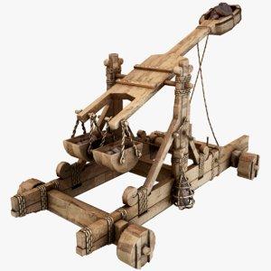 3D catapult pbr model