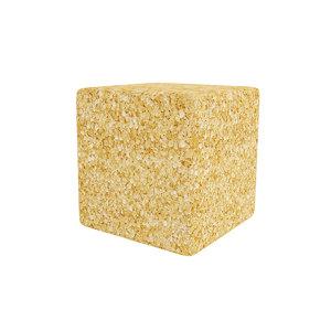 3D sugar brown cube