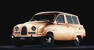 3D saab 1960 model
