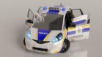 Police Car Honda Jazz