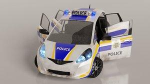 3D blender police car