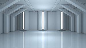 3D sci fi room