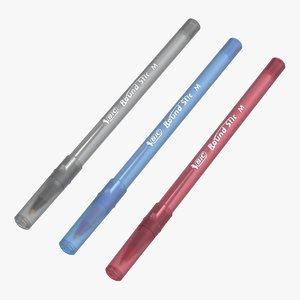 realistic set ballpoint pen 3D