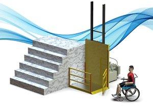 outdoor wheelchair elevator model