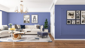 3D model living room royalblue design