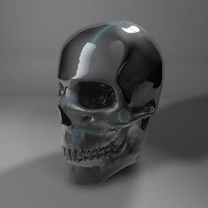3D steel skull l773