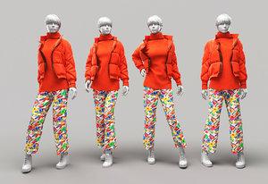 3D model woman mannequin 8