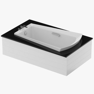 3D bath tub soaker model
