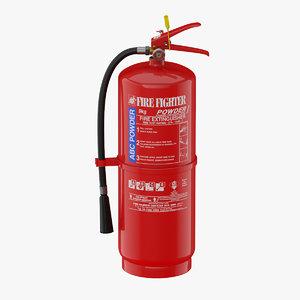 extinguisher abc 3D