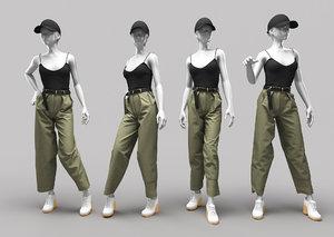 3D woman mannequin 9