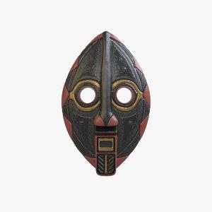 3D african mask v2