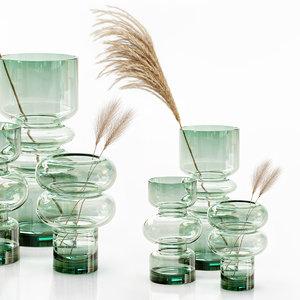 hm glass vase dried 3D