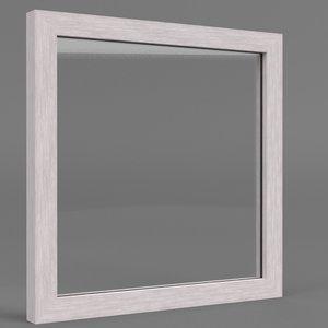 acrylic barrier frame 3D model