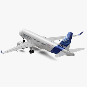 airbus a220 100 simple 3D model