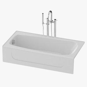 bath tub cast 3D model
