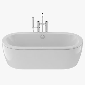 bath tub cast 3D model