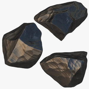 obsidian stone model