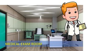 doctor s clinic exam 3D model