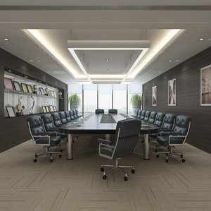 3D conference meeting room