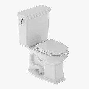 3D toilet piece two-piece model