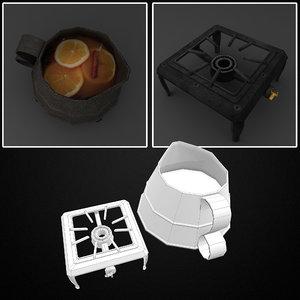 cider kettle gas trivet 3D