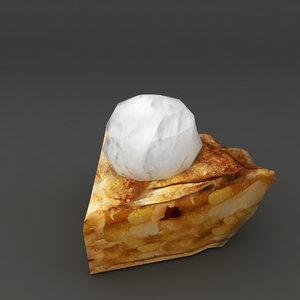food hot apple pie 3D model