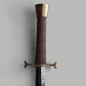 simple dagger 3D model