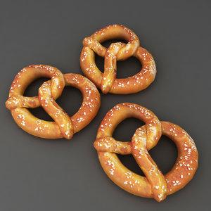 food soft pretzel 3D model