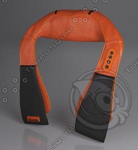 3D collar massager