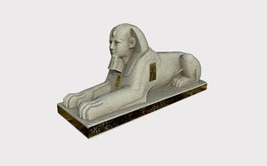 sphinx gold old 3D model