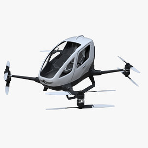 ehang single passenger aerial 3D model