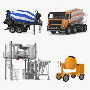 3D mixers mobile mixing plant model