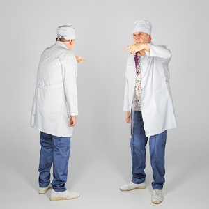 man surgical doctor pose 3D