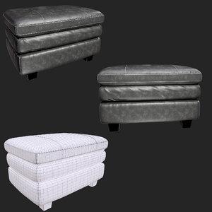 gleason chair ottoman sofa 3D model