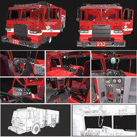 Fire Engine Truck Detailed PBR