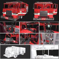 Fire Engine Truck Detailed PBR
