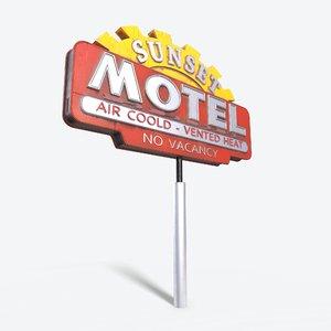 sign metalness 3D model