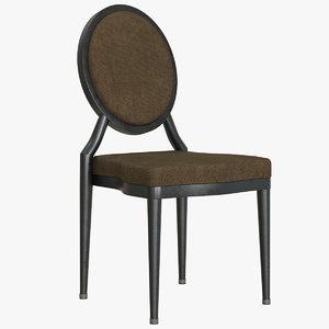 3D aluminum stacking chair