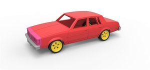 3D diecast shell car model