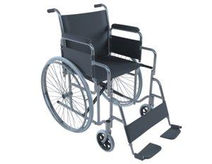 folding wheel chair 3D model