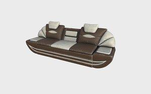 3D old sofa