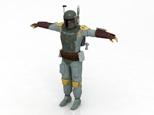 boba fett star wars 3D model