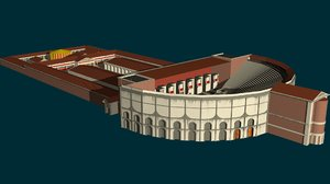 3D pompe rome des model