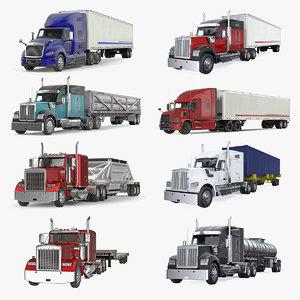 trucks trailers 3D model