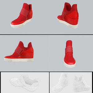 3D party shoe pbr model