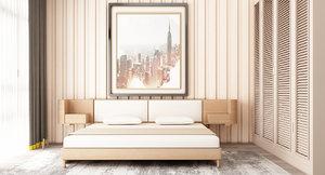 bedroom cream color 3D model