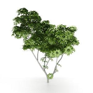 green landscape tree - 3D model