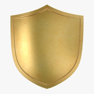 3D gold shield 01