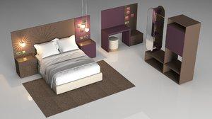 3D furniture bedroom