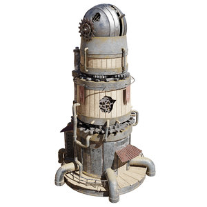 3D post-apocalyptic sci-fi observatory